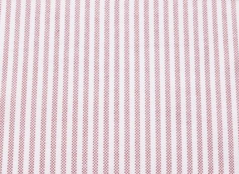 Pale Red Stripe Oxford